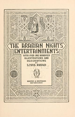 The Arabian nights' entertainments by