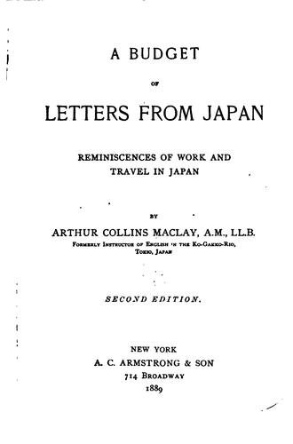 A budget of letters from Japan.