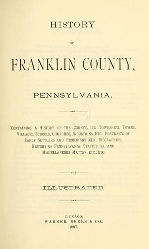 History of Franklin county, Pennsylvania by