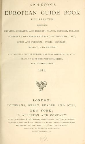 Appleton's European Guide book illustrated by