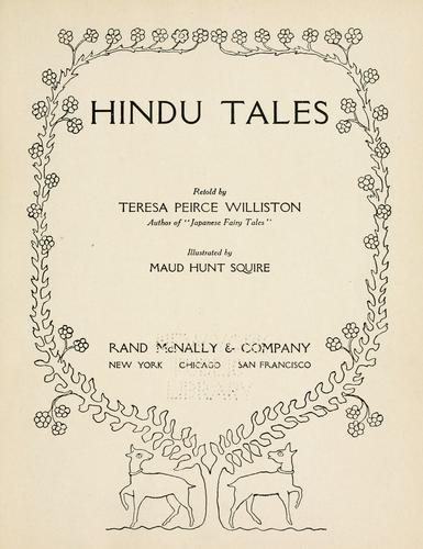 Hindu tales retold by Teresa Peirce Williston