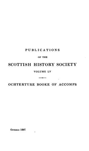 Ochtertyre House booke of accomps, 1737-1739 by Murray, William Sir
