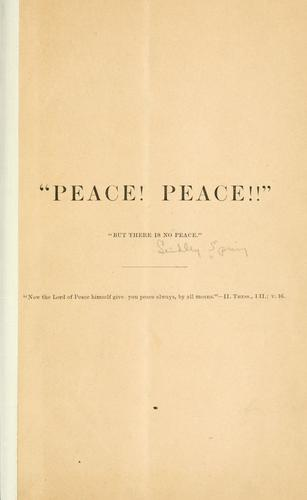 """Peace! by Lindley Spring"