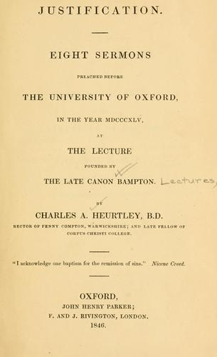Justification by Charles Abel Heurtley