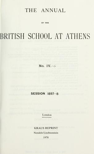 The annual of the British school at Athens by British School at Athens.