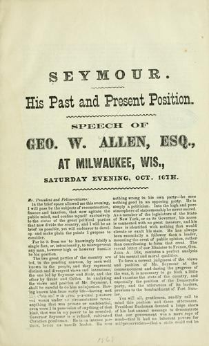 Seymour by George W. Allen