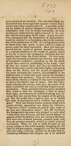 Speech of Mr. Van Dyke, on the amendment offered to a bill for the admission of Missouri into the Union, prescribing the restriction of slavery as an irrevocable principle of the state constitution by Nicholas Van Dyke