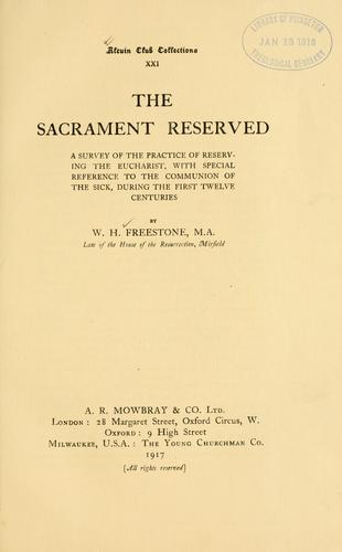 The Sacrament Reserved by Freestone, William Herbert, -1916