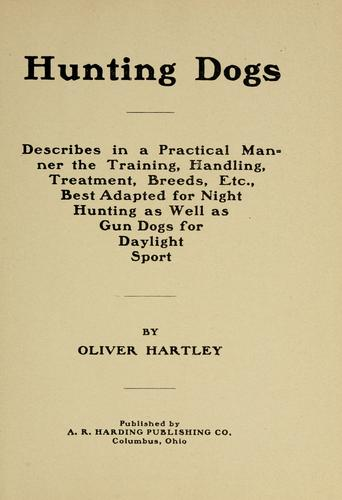 Hunting dogs by Hartley, Oliver.