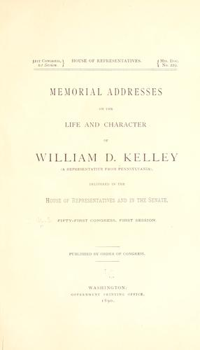 Memorial addresses on the life and character of John W. Kendall by United States. 52d Congress, 2d session