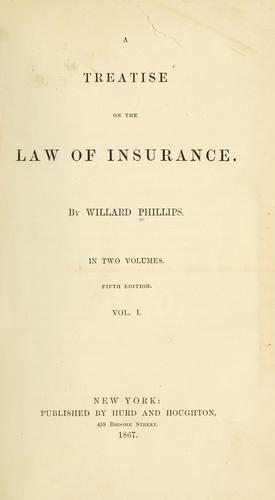 A treatise on the law of insurance.