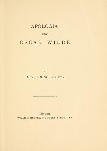 Apologia pro Oscar Wilde by Dal Young