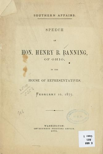 Southern affairs by Henry B. Banning