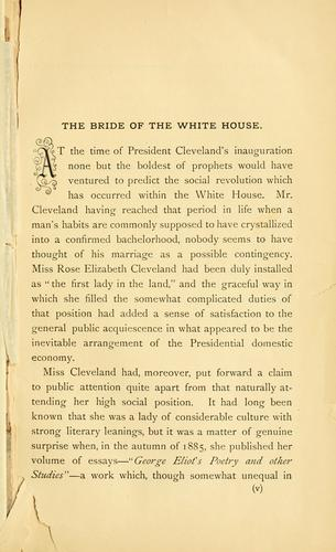 The bride of the White House by Francis Howard Williams