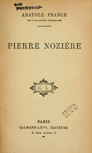 Pierre Nozière by Anatole France