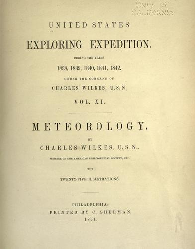 Meteorology by Charles Wilkes