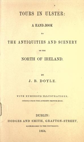 Tours in Ulster by J. B. Doyle