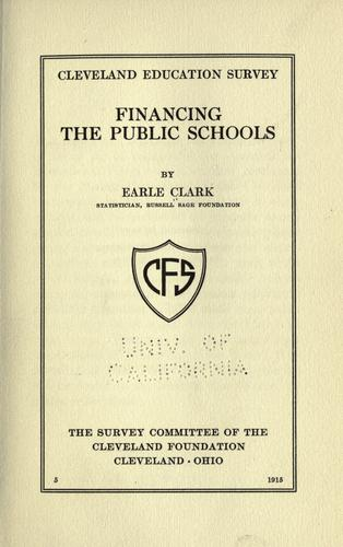 Financing the public schools