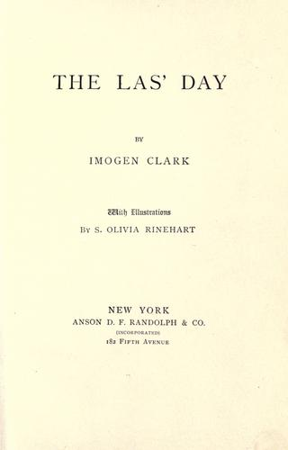 The las' day by Imogen Clark