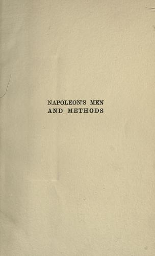 Napoleon's men and methods by Alexander Lange Kielland