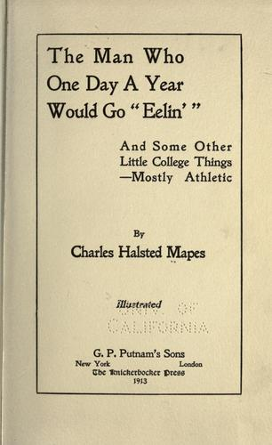 "The man who one day a year would go ""eelin',"" by Charles Halsted Mapes, Charles Halsted Mapes"