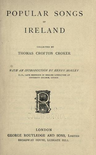 Popular songs of Ireland