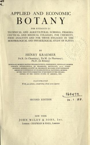 Applied and economic botany