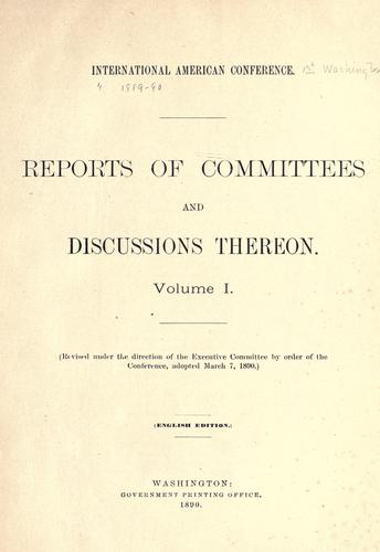 Reports of committees and discussions thereon.