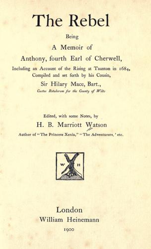 The rebel by Watson, H. B. Marriott