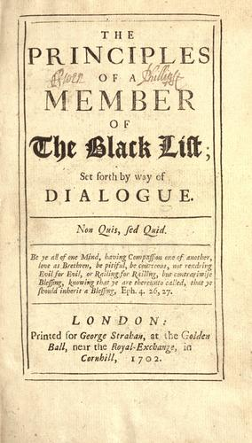 The Principles of a member of the black list by