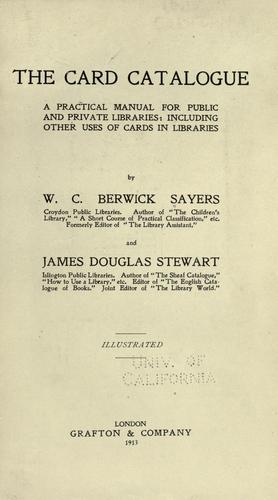 The card catalogue