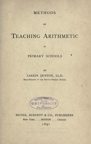 Methods of teaching arithmetic in primary schools