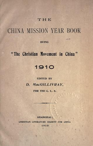 The China mission year book.