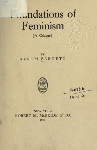 Foundations of feminism