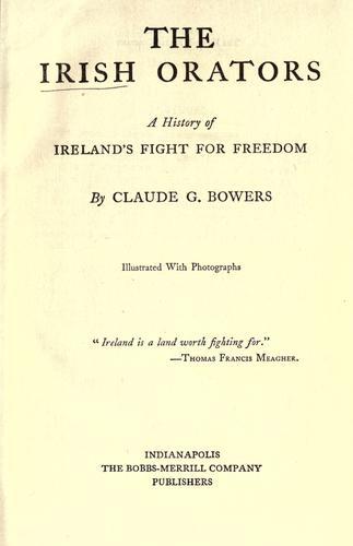 The Irish orators