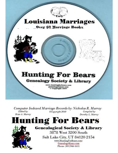 Early Louisiana Marriage Records by Nicholas Russell Murray