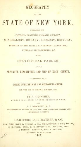 Geography of the state of New York by Joseph H. Mather