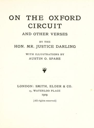 On the Oxford circuit, and other verses by Darling, Charles J. Darling Baron