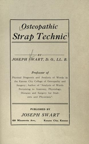 Osteopathic strap technic by Joseph Swart