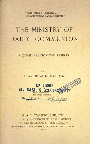 The ministry of daily communion by