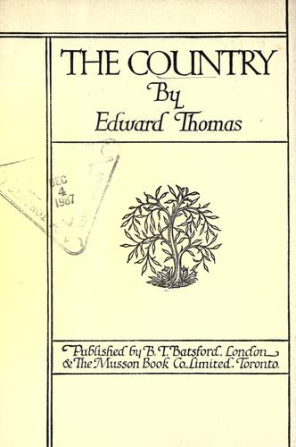 The country by Thomas, Edward