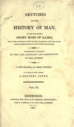Sketches of the history of man.