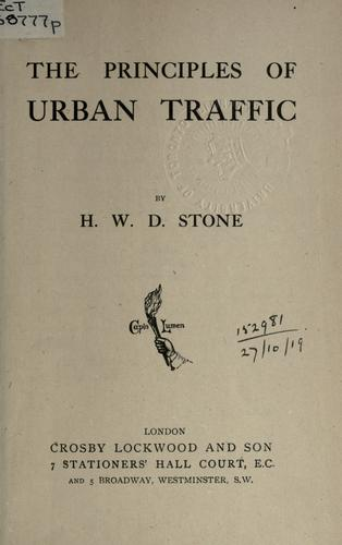 The principles of urban traffic.