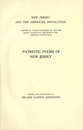 Patriotic poems of New Jersey by