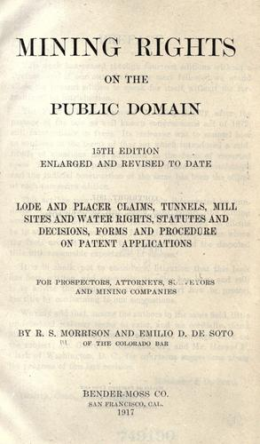 Mining rights on the public domain.