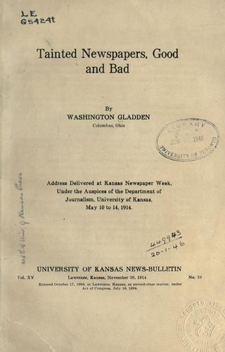 Tainted newspapers by Washington Gladden