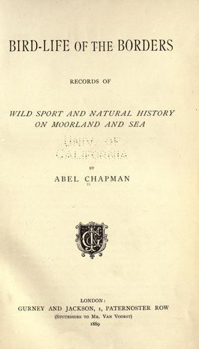 Bird-life of the borders by Abel Chapman