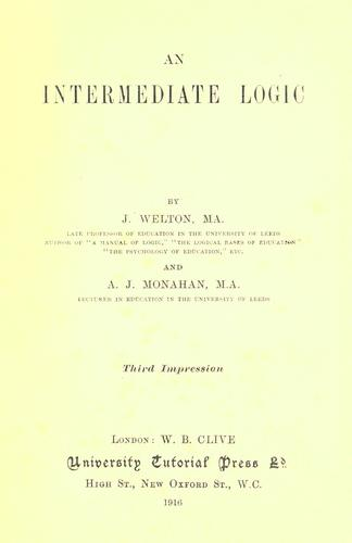 An intermediate logic by Welton, J.