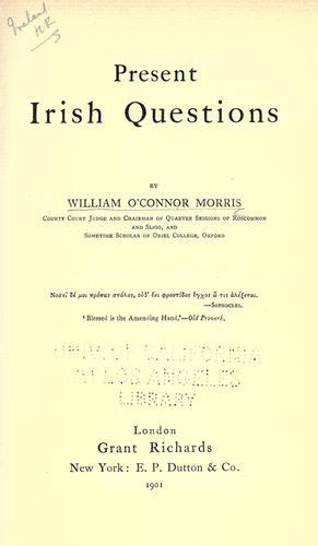 Present Irish questions
