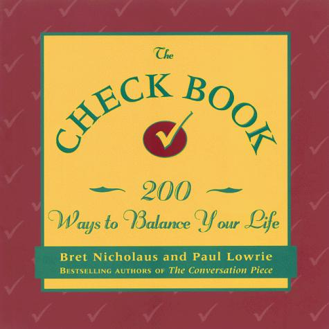 The check book by Bret Nicholaus